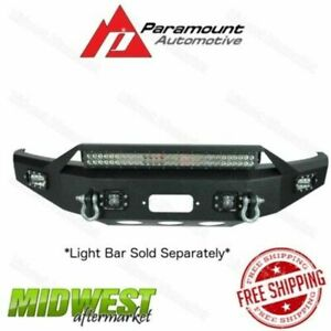 Paramount Black Led Winch Ready Front Bumper Fits 2015 2017 Ford F150