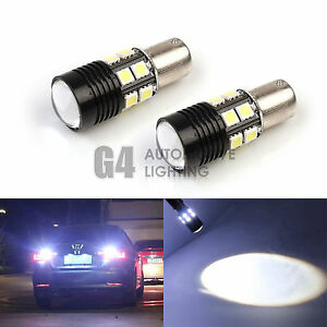 2x Cree 7w 1156 Led Bulbs 5050 Smd Back Up Reverse Light Xenon White Projector
