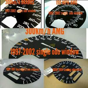Mercedes R129 W140 Repro 300km h Amg Speedometer Dial Tacho For Analog Odometers