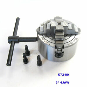 3 4 jaw Lathe Chuck Independent And Reversible Jaw K72 80 High Quality