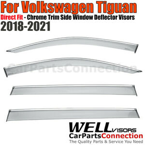 Wellvisors Window Visors 2018 Volkswagen Tiguan Side Deflectors Chrome