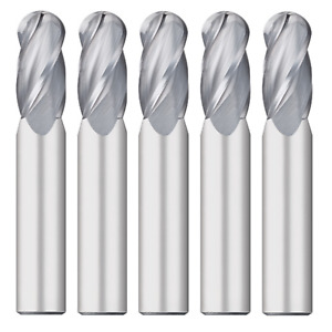 5pcs 1 8 Dia Carbide End Mill 4 fl 1 Loc 3 Oal Mtc 63855