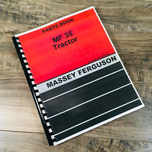 Massey Ferguson 35 Tractor Parts Catalog Manual Book Exploded View Assembly