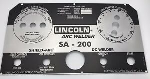 Lincoln Electric Arc Welder S 200 L 5171 025 Aluminum Replica Control Plate