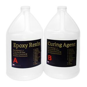 Crystal Clear Epoxy Resin Tabletop Concrete Epoxy Resin 2 Gals