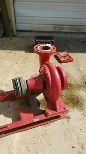 75 Hp X 6 In 5 Outlet Bell Gossett 750 Gpm Fire Saftey Transfer Pump 1510
