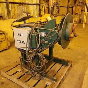 2500 Lb Aronson 2 axis Welding Positioner 3 jaw Chuck Foot Pedal W vfd Control