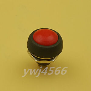 100pcs Waterproof On off Reset Push Button Momentary Red Switch For Car Boat