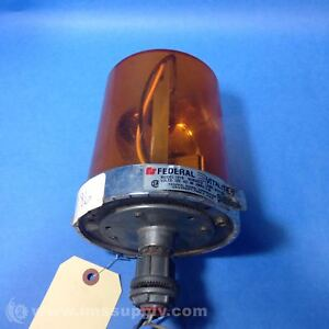 Federal Signal 121s 120a Beacon Warning Light Amber Usip