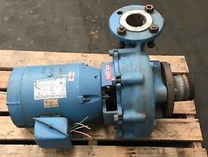 Mepco Pump Rc09 25 050 17 3 With Marathon Fire Pump Motor Cat No M317 5 Hp