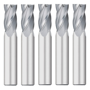5pcs 1 2 Dia Carbide End Mill 4 fl 5 8 Loc 3 Oal Mtc 64101