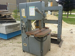 18 Grob Mdl 4v 18 Vertical Band Saw Pneumatic Feed Work Light Blade Welder