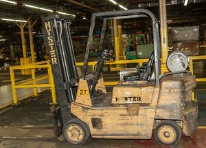 Hyster S50xl 5 000 Lb Propane Powered Forklift 3 stage 187 Lift W sideshift