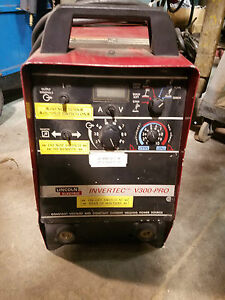 Lincoln Invertec V300 pro Inverter Type Power Source W ln 742 Wire Feeder