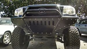 Hot Metal Fab 2005 2015 Toyota Tacoma Tube Plate Hybrid Bumper With Winch Mount