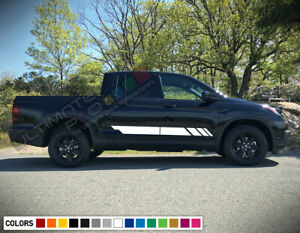 Side Rocker Stripes Decal Sticker Graphic Vinyl For Honda Ridgeline Racing Rtl