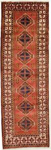 Vintage Hallway Runner Tribal 3 5x11 Hamedan Persian Rug Wool Oriental Carpet