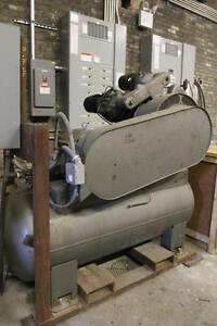 25 Hp Ingersoll Rand 2 stage 3 Cyl Type 30 Reciprocating Tank Mnt Air Compressor