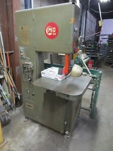 1983 Grob 4v 18 Vertical Bandsaw Pneumatic Feed Contour Table Blade Welder