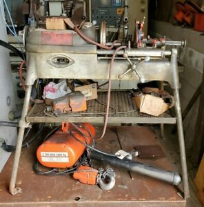 Ridgid 535 Pipe Threader 1 2 2 Capacity W 2x Die Heads Dies On Stand