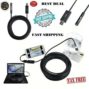 Pipe Inspection Camera Endoscope Video 15m 50 Ft Sewer Drain Cleaner Waterproof