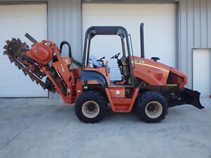 06 Ditch Witch Rt75 Trencher Cable Plow Only 265 Hrs 4x4 4 Wheel Steering
