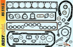 1936 1952 Buick 320 Straight 8 Engine Full Gasket Set Best Free Shipping