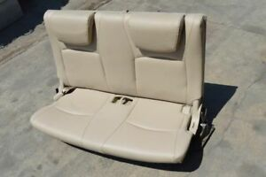 2004 2005 2006 2007 Toyota Highlander Rear Bench Seat 3rd Row Tan Leather