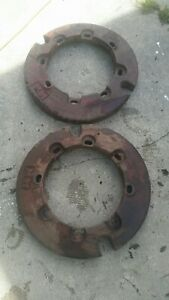 2 Minneapolis Moline Wheel Weights 100 Pounds Each Antique Tractor 10a373