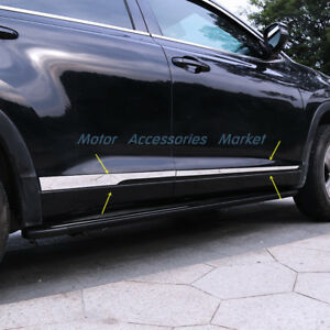 New Stainless Steel Body Door Side Molding Trim For Toyota Highlander 2014 2018