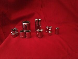 Lot Of 16 Brand New Snap on Sockets Doubles triples Resellers Dream