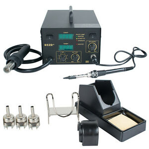 852d 2in1 Soldering Rework Stations Smd Hot Air Iron Desoldering Welder Esd Us