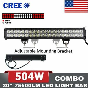 20inch 504w Led Light Bar Combo Offroad Driving Lamp 4wd Lens Vs 22 24 126w