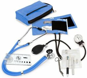 Sprague Sphygmomanometer Nurse Kit Ciel Blue Color Stethoscope Nylon Cuff Index