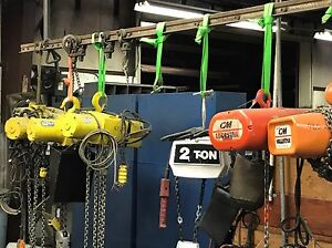 Electric Chain Hoists 1 2 Ton 2 Ton Available 1 phase 3 phase
