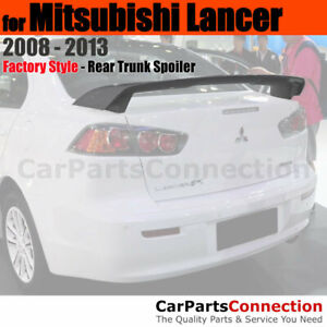 Painted Trunk Spoiler For 2008 2013 Mitsubishi Lancer X42 Labrador Black Pearl