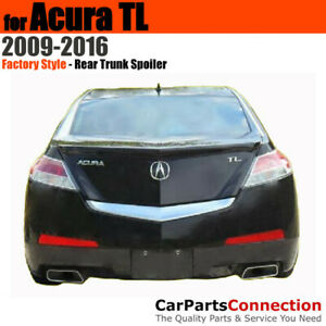 Painted Trunk Spoiler For 2009 2016 Acura Tl End Lip Nh731p Crystal Black Pearl