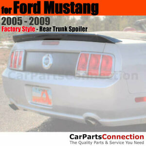 Painted Abs Trunk Spoiler For 2005 2009 Ford Mustang Cobra Style Ua Pitch Black