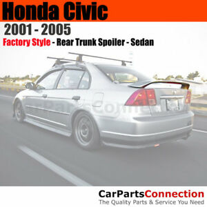 Painted Trunk Spoiler For 2001 2005 Honda Civic Sedan Yr528m Shoreline Mist Met