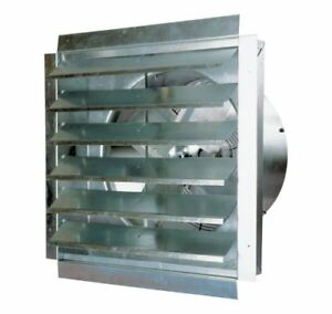 18 Industrial Exhaust Shutter Fan Wall Mount 3000 Cfm Garage Shop Heavy duty