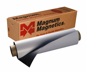 Magnetic Sheet Car Roll Sign Magnet 30mil X 24 X10 Magnum Magnetic Brand