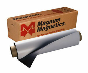 1 Blank Magnetic Sheet Magnum Best Car Magnet Roll 12x 10 30 Mil