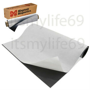 Magnetic Sheets 20 Mil X 24 X 10 Adhesive Backing Magnum Usa Product