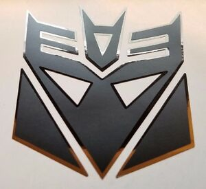 Transformers Decepticon Megatron Decal Sticker Flat Black W Chrome