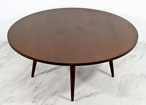 Mid Century Modern Paul Mccobb For Planner Group Small Round Coffee Table 1950s
