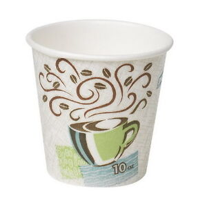 Dixie Perfectouch Wisesize Coffee Dream Insulated Paper Hot Cup 10 Oz 500 case