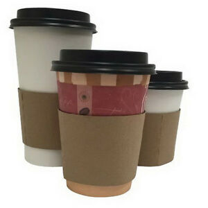 South Seas Coffee Clutch Paper Cup Sleeve Brown 1000 case