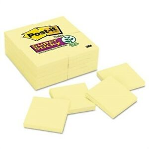 Super Sticky Notes 90 3 X 3 Sheets 24 Pads pack X 2
