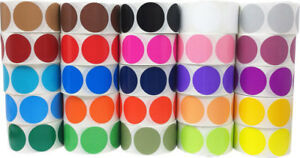 Large Circle 25 Colors Sticker Bulk Pack 2 5 Inches Round 500 Labels On A Roll