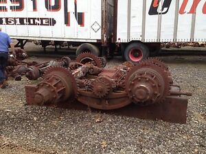 Sterling Chain Drive Vintage Truck Rear Tandem Axle Assembly Used 1940 S